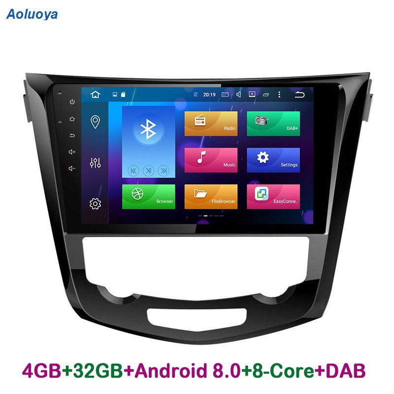 Aoluoya RAM 4GB Octa Core Android 8.0 CAR Radio DVD GPS For Nissan X-trail X Trail 2014 2015 2016 2017 Audio Navigation WIFI DAB