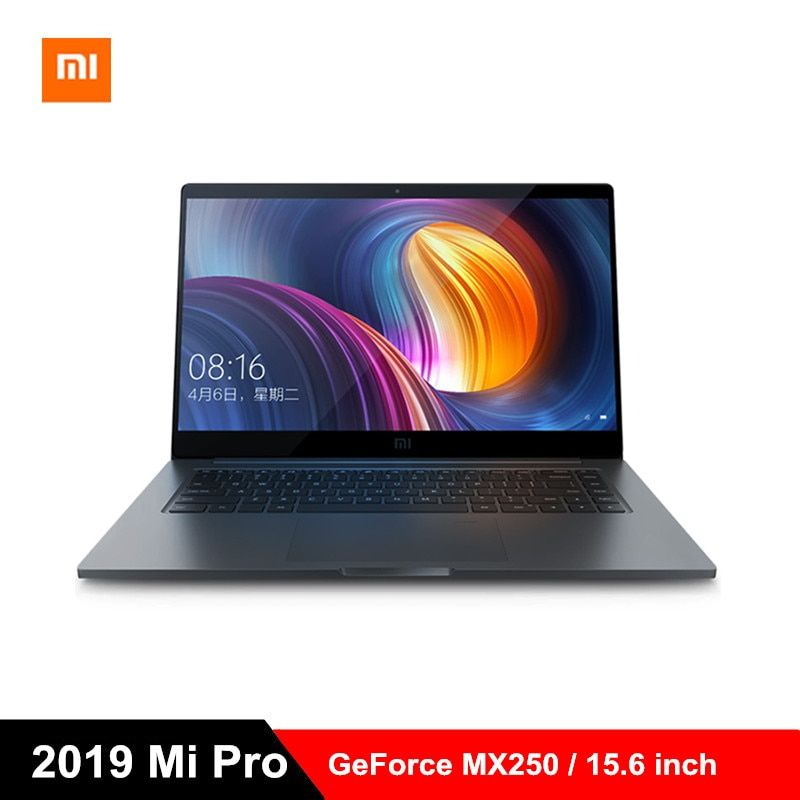 2019 Xiao mi mi Pro Laptop 15,6 zoll Windows 10 Notebook i5-8250U/i7-8550U Quad Core 8 GB/16 GB RAM 256 GB SSD 1.0MP GeForce MX250