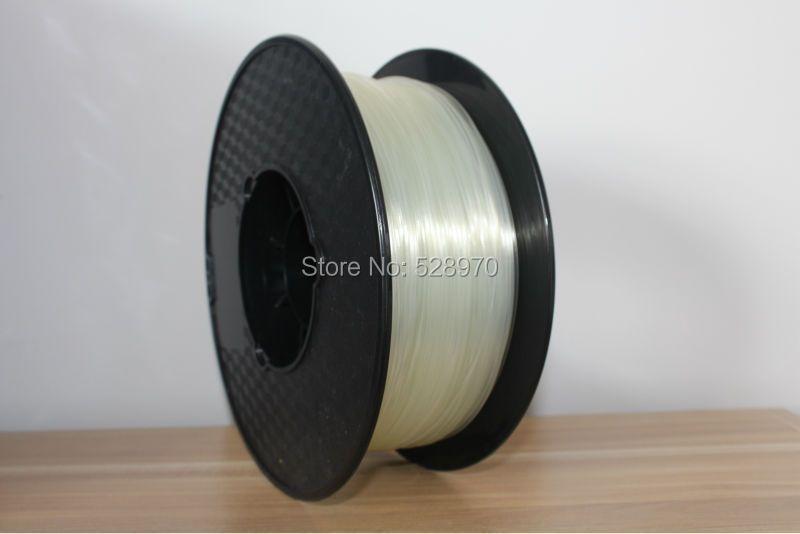 Натуральный прозрачный 3d принтер нити 1.75 мм/3 мм pla оптовая продажа 3D принт пластик Резина Расходные материалы MakerBot/ ultimaker