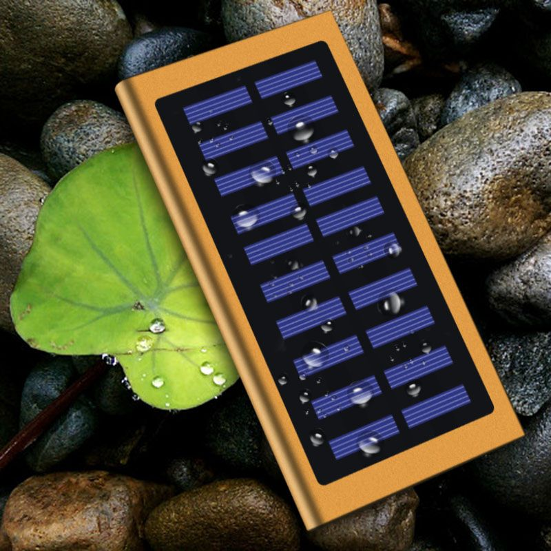 Hot Sale 20000mAh Ultra-Thin Solar Power Bank External Battery Case Pack Dual USB Charger for IPhone IPad Tablet for Xiaomi