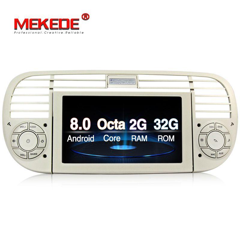 Auto Multimedia player PX5 Android 8.0 auto dvd-spieler gps-navigation für FIAT 500 2007-2016 kopf einheit mit BT WIFI 3g 2g RAM