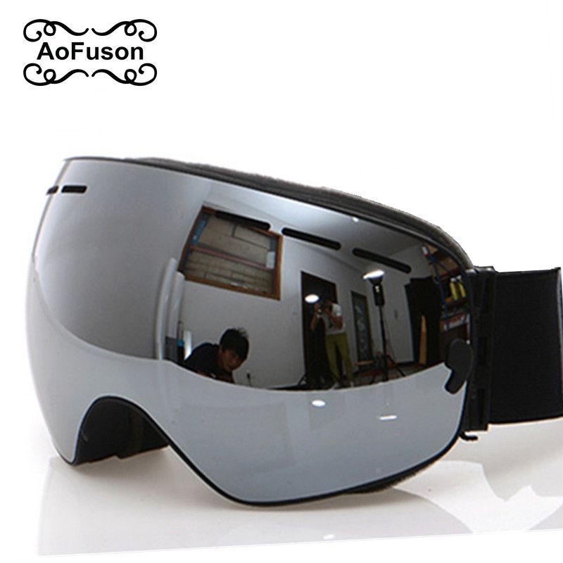 Lunettes de Ski, 2019 nouvelle marque professionnelle Anti-buée Double lentille UV400 grand sphérique hommes femmes lunettes de Ski Ski Snowboard lunettes