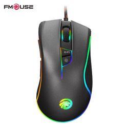 D'origine FMOUSE F300 E-Sport Version Programmable Souris 4000 DPI Optique Filaire Gaming Mouse Gamer Pour Pro Gamer