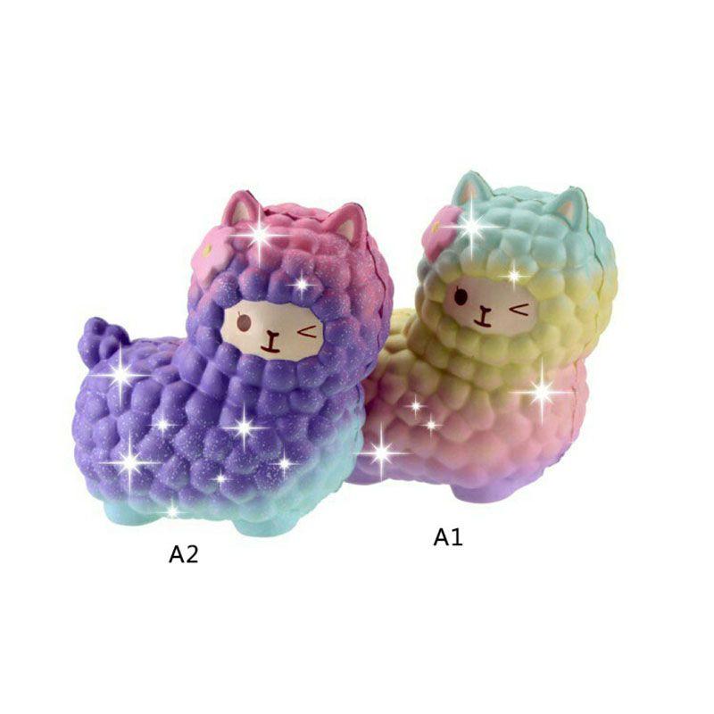 Jumbo Squishies Rainbow Alpaca Slow Rising Collection Gift Decor Stress Release Toy Kids Cartoon Sheep Christmas Gift P15