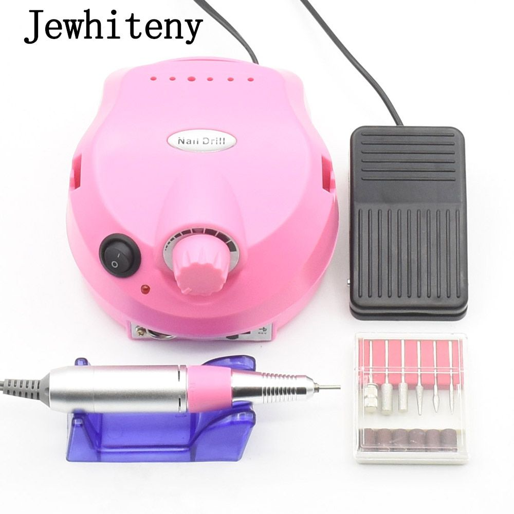 35000RPM Pro Electric Nail Drill File Bit Machine Manicure With Upgraded Version Silicone Case Anti-scald Handle Manicure Kit