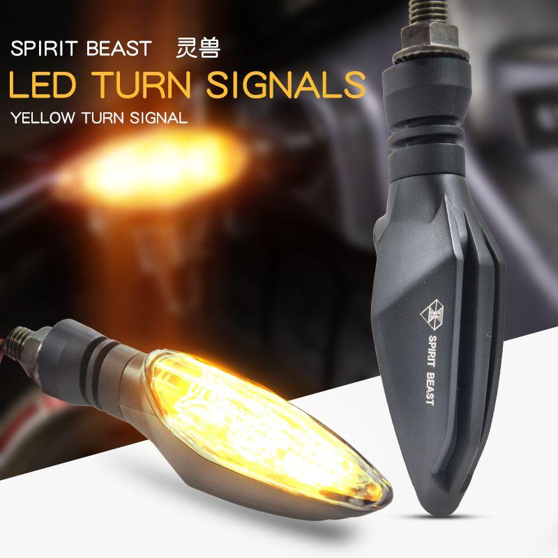 Мотоцикл сигнальные огни 2 шт. модифицированные фонари водонепроницаемый включить свет светодиодный направление света Декоративные супер ...