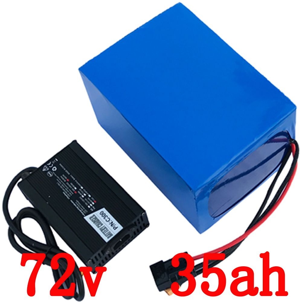 Free customs duty 3000W 72V 35AH Electric bicycle battery 72V ebike tricycle wheelchair battery 50A BMS and 5A Charge