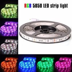 LED Strip 5050 DC12V 60LEDs/m 5m/lot Flexible LED Light RGB  5050 LED Strip White/Blue/Warm White  (not include adapter and cont