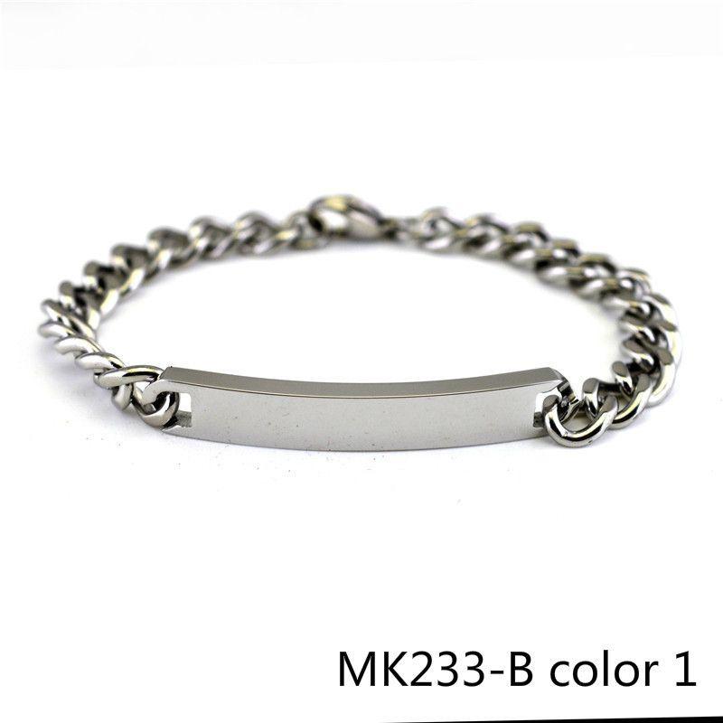 Korea Wind Concise Mill Finish Lovers Bracelet Man Women's A Pair Titanium Steel Student Fashion Ol Accessories Product MK233