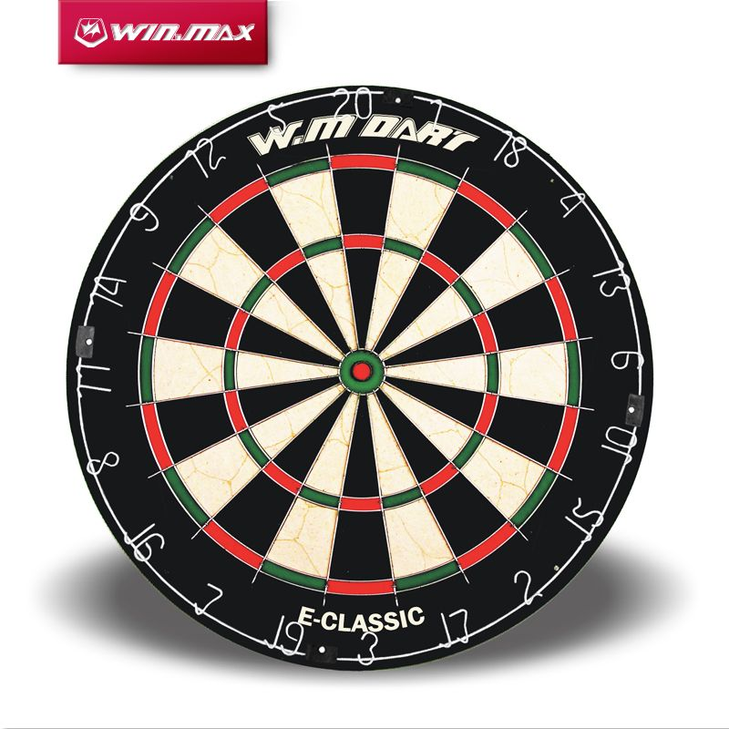 WINMAX Best Quality 18 Inch Round Wire System Professional Bristle Sisal Dart board for Match Play with a set of Steel Tip Dart