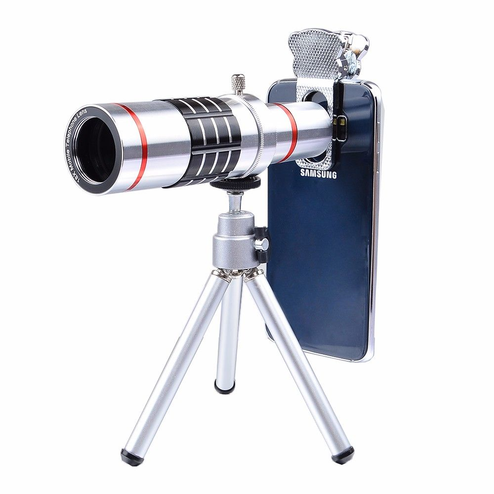 Wrumava Universal 18x Optical Telescope Mobile Lens Telephoto Zoom Slow with Tripod for Samsung iPhones Phone LX18X