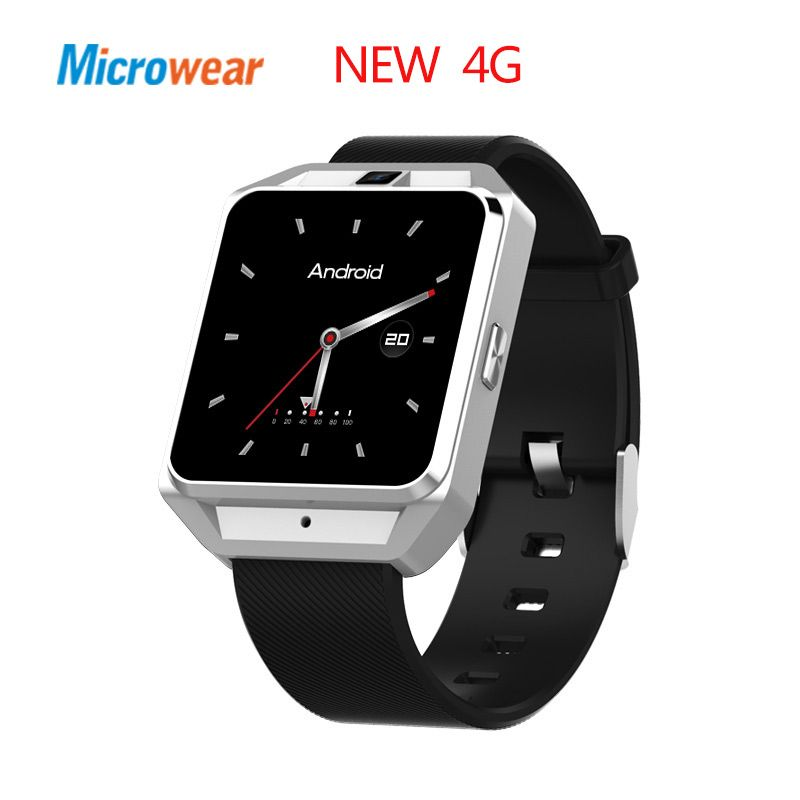 Microwear H5 4G smart watch Android ios phone MTK6737 Quad Core 1G RAM 8G ROM GPS WiFi Heart Rate smartwatch
