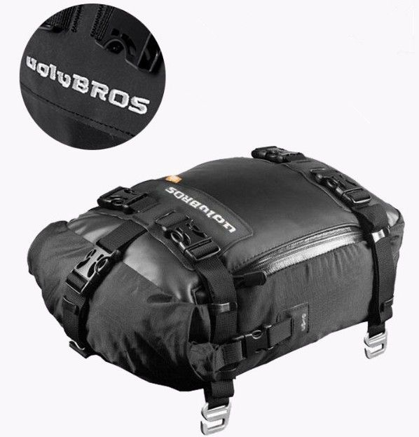 2017 Free delivery motorcycle body motorcycle tire bag tank Moto bag Motorbike back seat bag + RAIN COVER