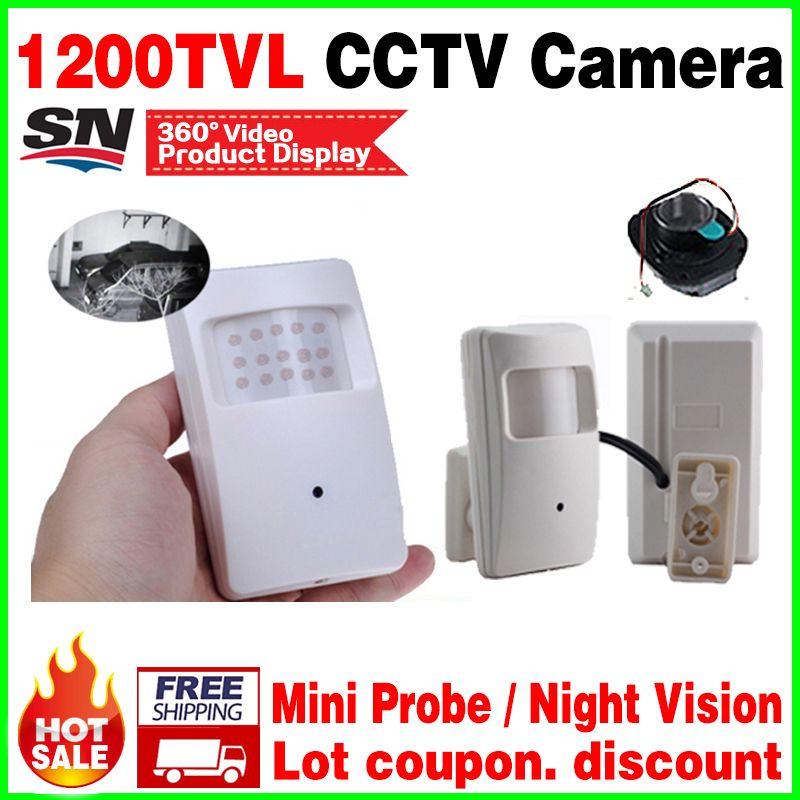 Neue kegel Nachtsicht 20 mt Sonde Infrarot ahdl HD mini kamera 1/3 CMOS 1200TVL 18led CCTV Überwachungs Farbe 3,7mm objektiv