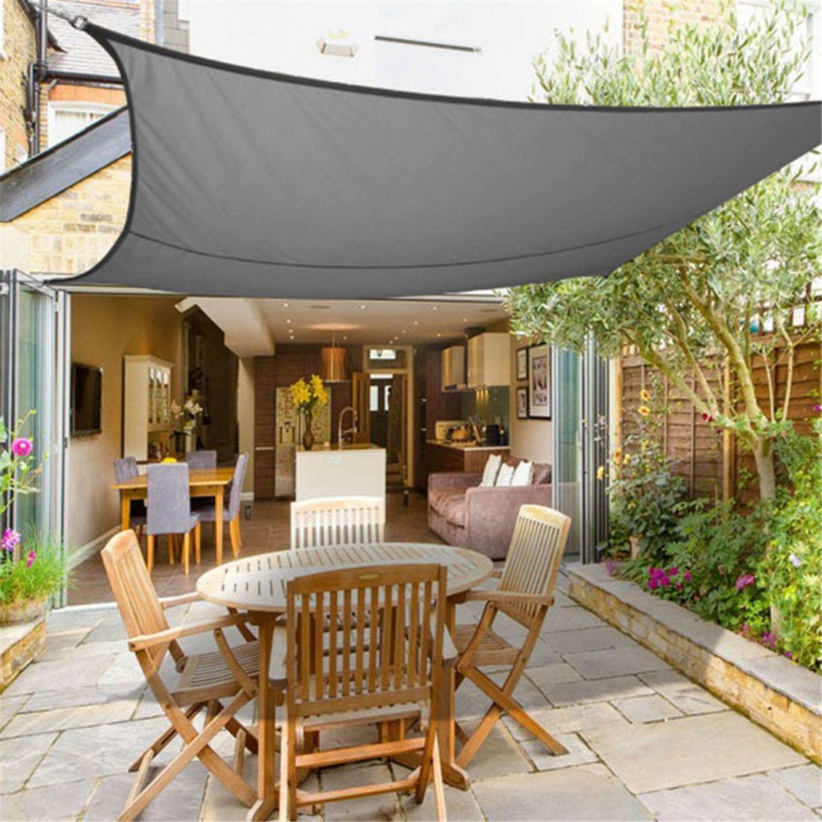 Waterproof Sun Shade Sail Garden Canopy Awning Screen 98% UV Block Sunshade Cloth Patio Garden Accessories Supplies 3mx2m
