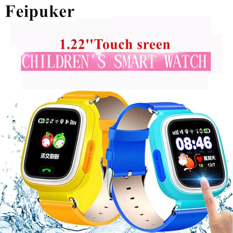 GPS Smart Watch детские часы Q90 с Wi-Fi сенсорный экран SOS вызова расположение devicetracker для малыша безопасный анти-потерянный Мониторы pk q80 Q60