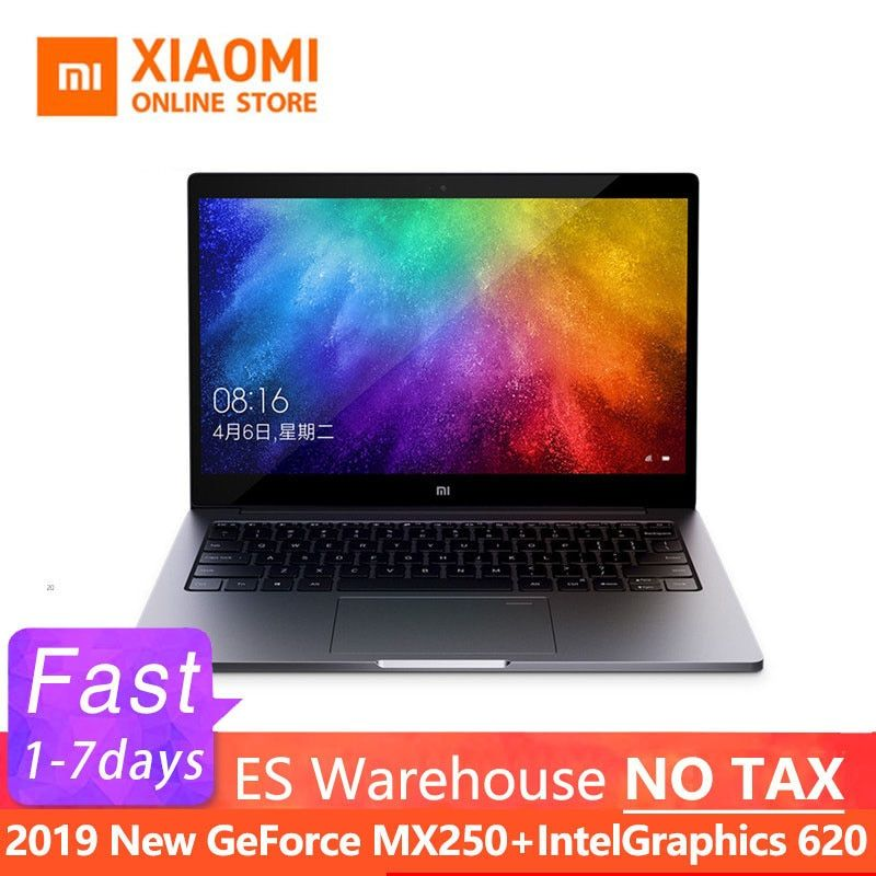 2019 Xiao mi mi Air Laptop 13,3 Zoll Ultra Slim i5 8250U/i7 8550U GeForce MX250 Fingerprint Anerkennung Windows 10 englisch