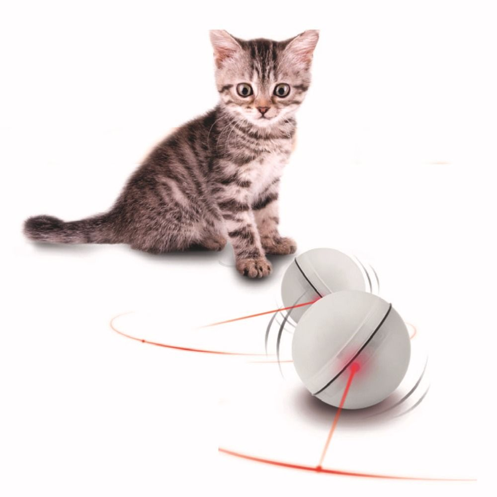 LED flash rolling cat toys electric ball funny Pet toys electronic luminous Light Spot Teasing Cat Toys for small dogs puppys