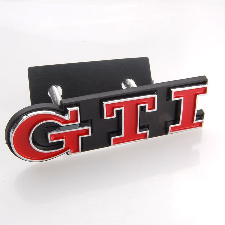 Chrome ABS Red GTI Front Grille Grill Boot Badge Emblem Decoration Fit For VW Polo GOLF 4 GOLF 5 GOLF 6  MK GTI Auto Car Styling