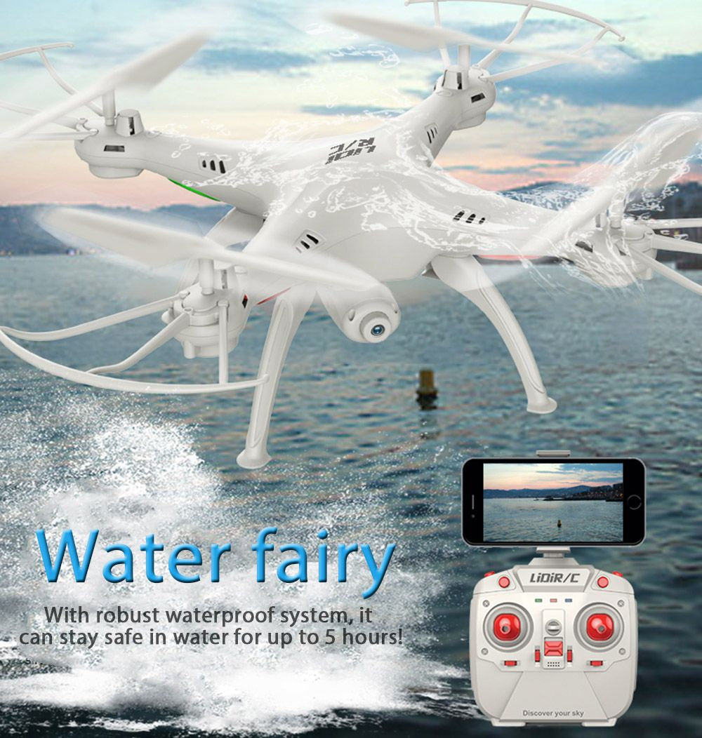 LiDiRC L15FW RC WiFi FPV 2.4GHz 4CH 6 Axis Gyro Waterproof Headless Mode RC with Camera VS MJX X101 Helicopter