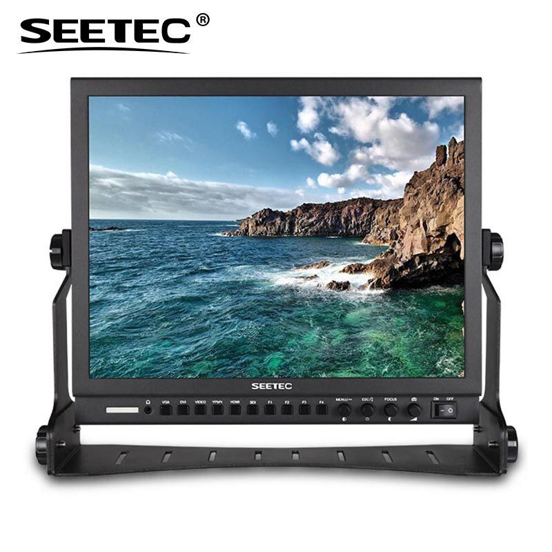 Seetec P150-3HSD 15 Inch Aluminum HD Pro 3G-SDI HDMI Broadcast Monitor with Peaking Focus Assist Check Field 15