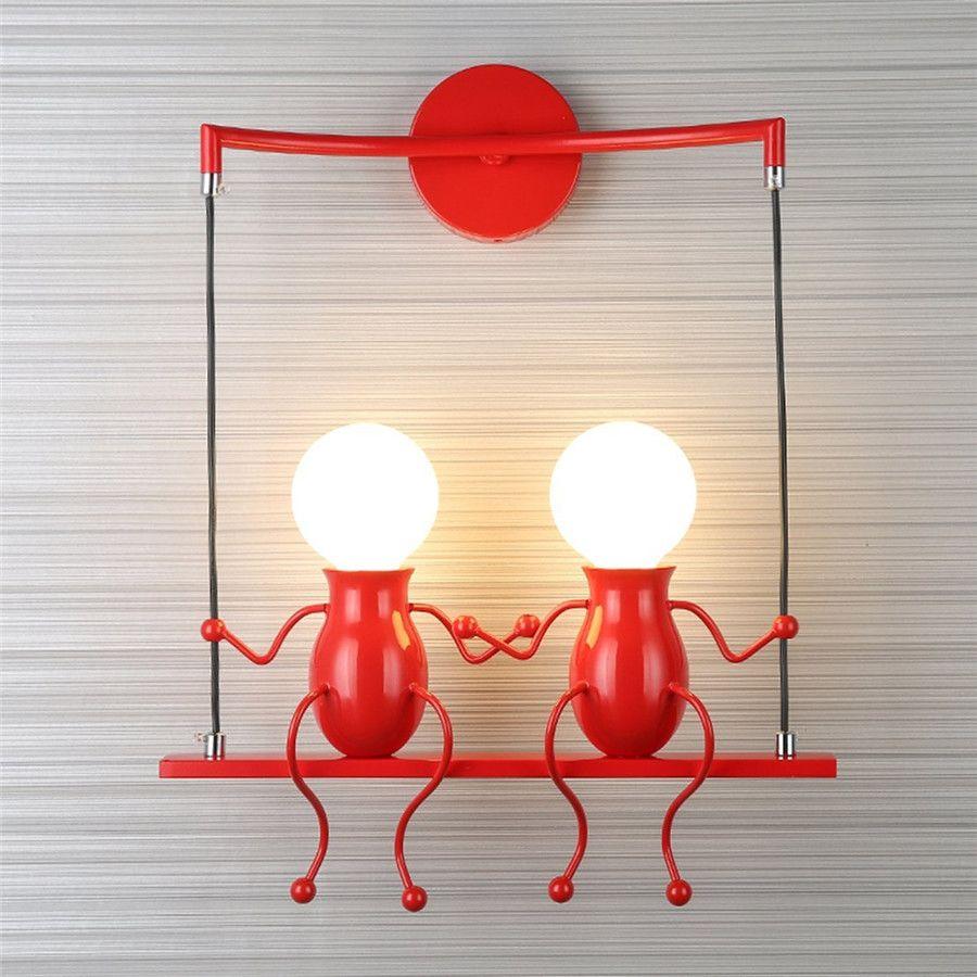 SXZM 10 Watt Führte wandlicht AC85-265V Kreative lampe leuchte Cartoon Doppel Menschen dekoration für Nacht, Foyer Wand montiert