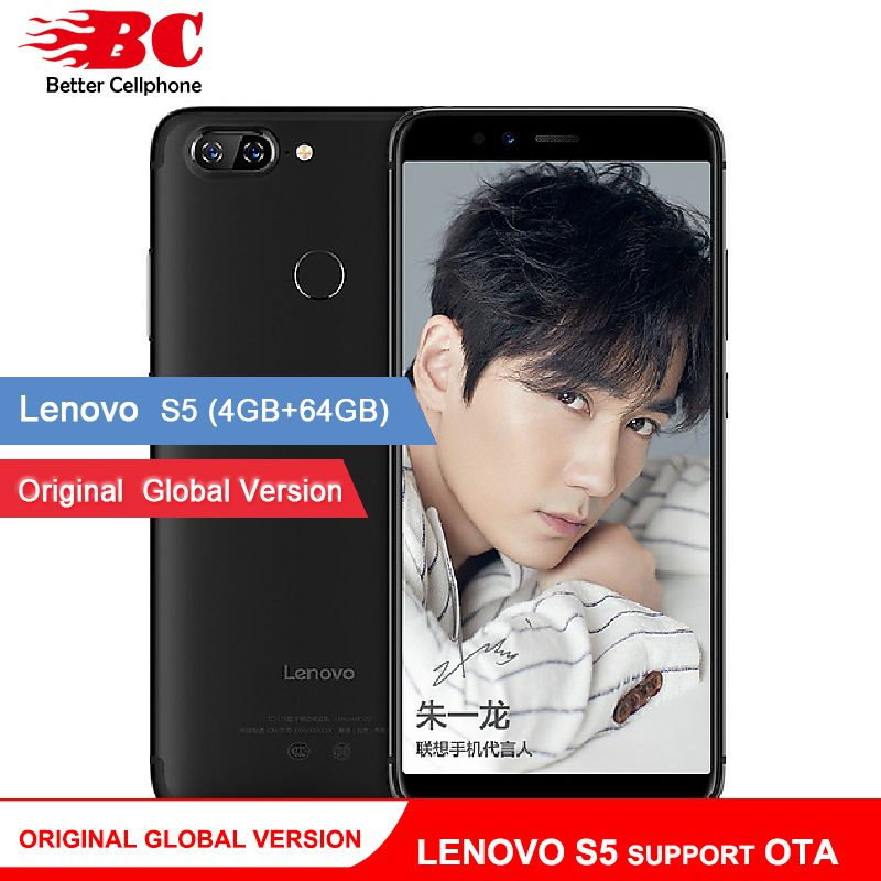 Original Global Version Lenovo S5 K520 K520T Phone OTA 4GB RAM 64GB ROM Snapdragon 625 Octa Core ZUI 3.7 Android 8.0 Face-ID
