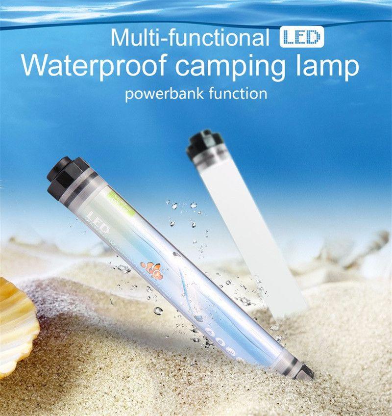 450LM lumière de camping IP68 Étanche pour la Pêche Randonnée 4 Mode Gradation Portable 10400 mAh batterie rechargeable led luminaire d'extérieur