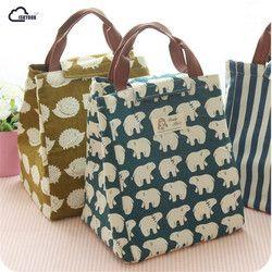Iskybob ballena animal Linda portátil aislados almuerzo bolsa de alimentos térmicos picnic para las mujeres niños men cooler lunch box bag totalizador