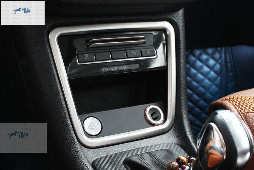 Intérieur pour VW volkswagen sharan 2012-2016 acier inoxydable contrôle Central panneau de rangement garniture de couverture 1 pièces