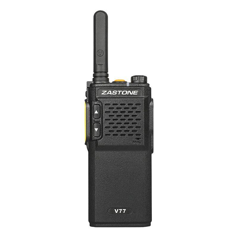 Zastone V77 Walkie Talkie 3w CB Radio Two Way Radio UHF 400-470mhz Ham Radio mini Body Transceiver telsiz comunicador