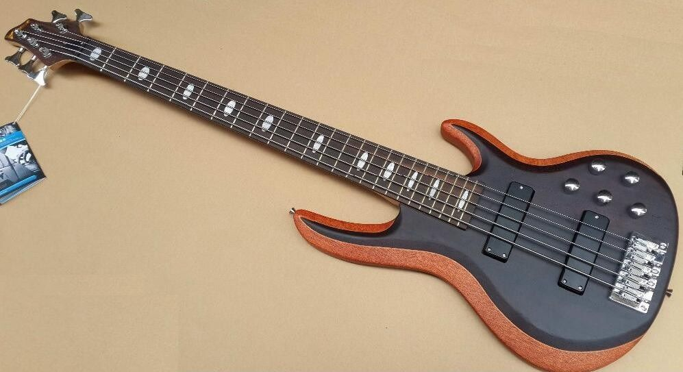 active pickup 5 string bass guitar with double adjusted Neck for professional play
