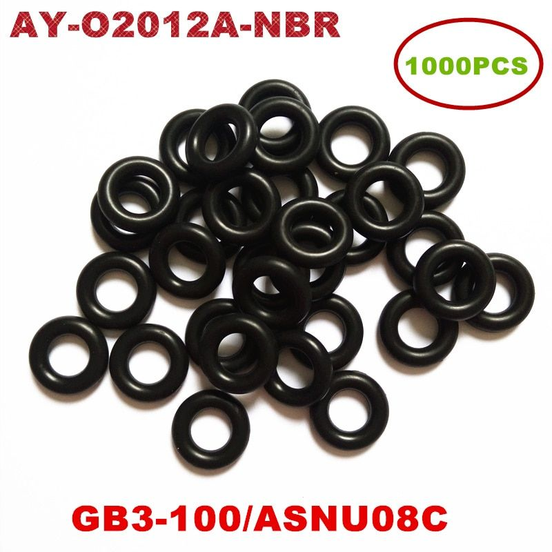 1000pcs Universal Injector Nitrile Butadiene Rubber(NBR) Oring For ASNU08C /GB3-100 O-Rings For Fuel Injector Repair Kit