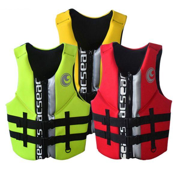 Hisea adult life vest buoyancy thickening drift vest marine snorkeling swimming suit Surfing scuba children lifejacket 4colors