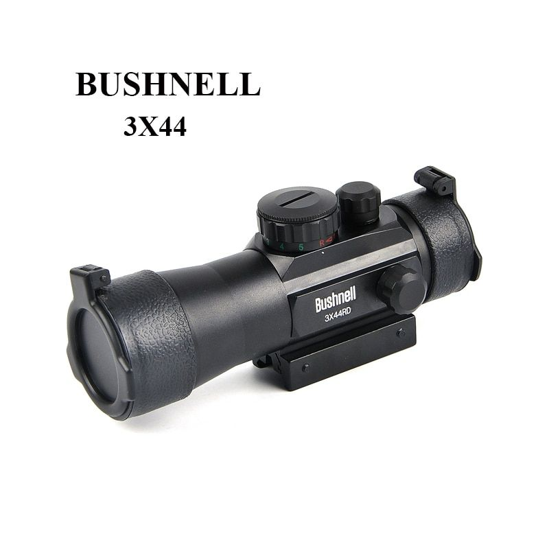 BUSHNELL 3X44RD Green Red Dot Sight Scope Tactical 11/20mm Rail Riflescope Fit Picatinny Mount Hunting Scopes
