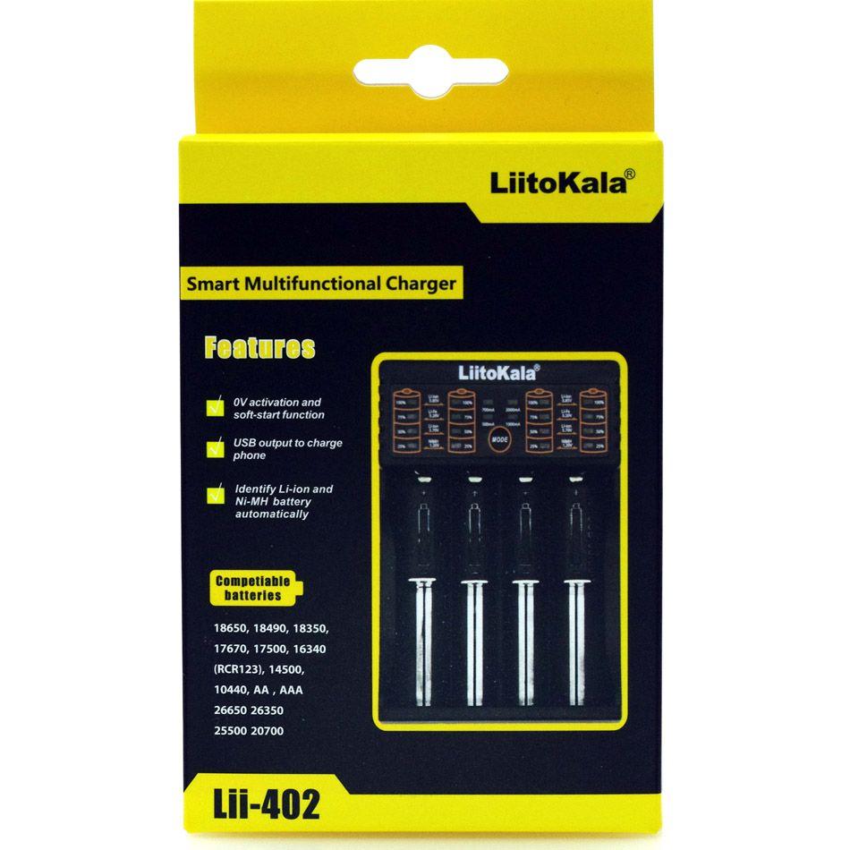 Liitokala Lii-100 Lii-202 Lii-402 1.2V 3.7V 3.2V 3.85V AA /AAA 18650 18350 26650 10440 18350 <font><b>NiMH</b></font> lithium battery smart charger