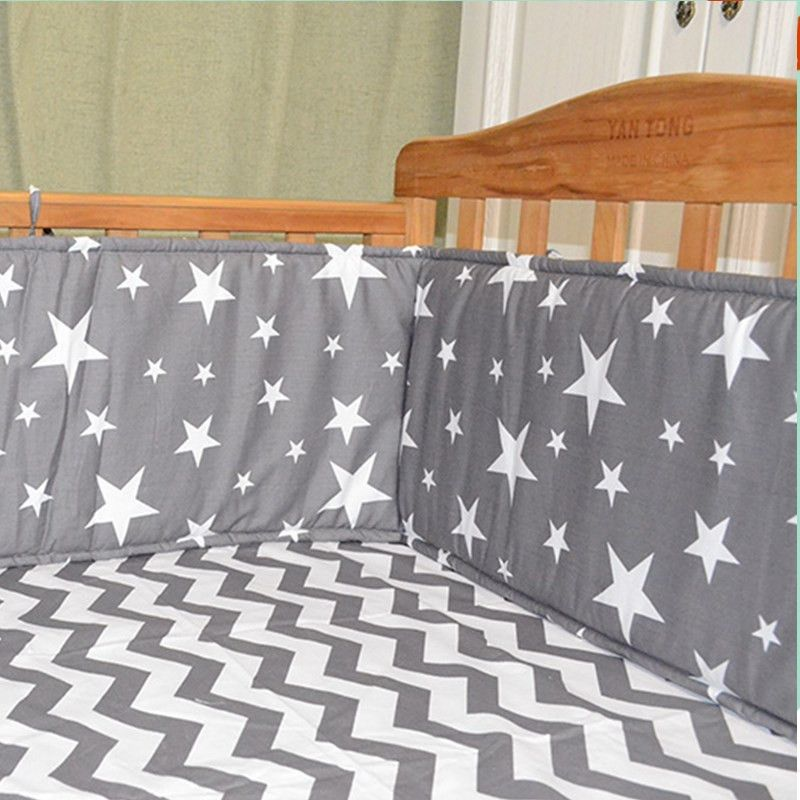 Baby Bumpers In the Crib For Newborn Cotton Linen Cot Bumper Baby Bed Protector crib bumper infant bed,baby bed bumper star/tree