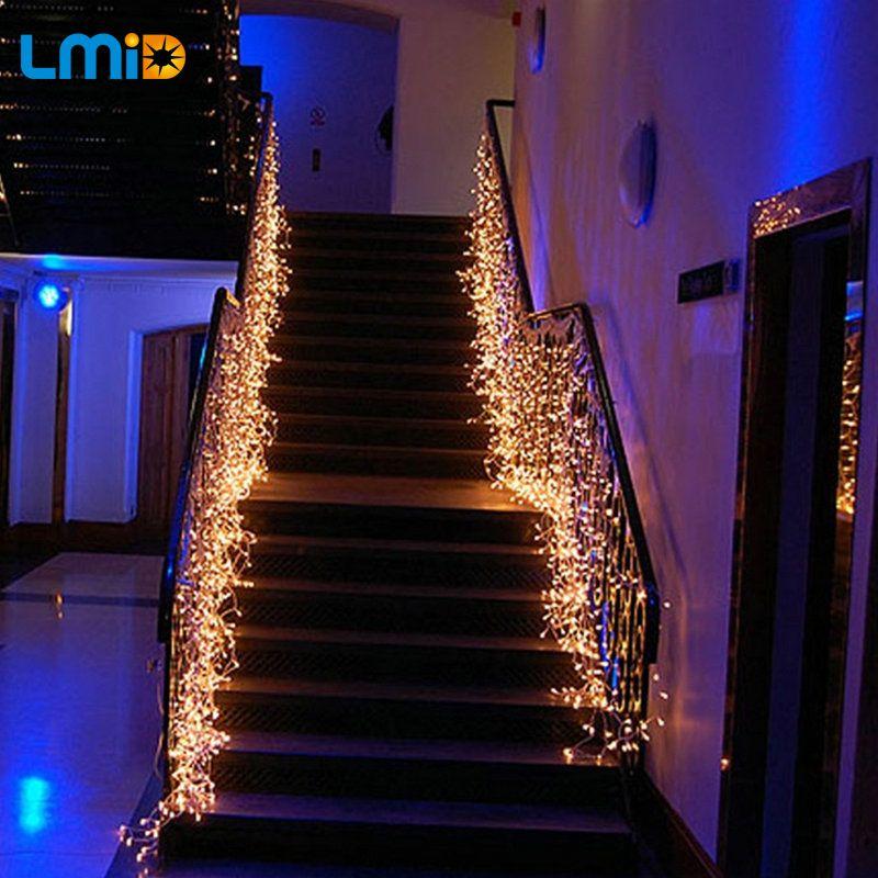 LMID 4*0.6 m Icicle Jeu de Lumières De Noël Guirlandes guirlande Extérieurs pour La Maison Pour la Fête De Mariage Rideau Décoration De Jardin