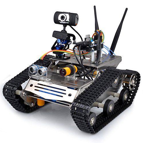 Wireless Wifi Robot Car Kit for Arduino / HD Camera Ds Robot Smart Educational Robot Kit for Kids
