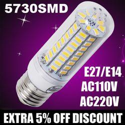 220 V 110 V lampada de led milho bulbo E27 E14 Lâmpadas Led Luzes LED de Milho Conduziu a Lâmpada de parede Vela iluminação Holofotes