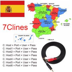 2018 Spain Portugal Cccam Valid 12month AM 7Clines Stable channels For Freesat V8 Super DVB-S2 Satellite Receiver V7HD V8 Finder