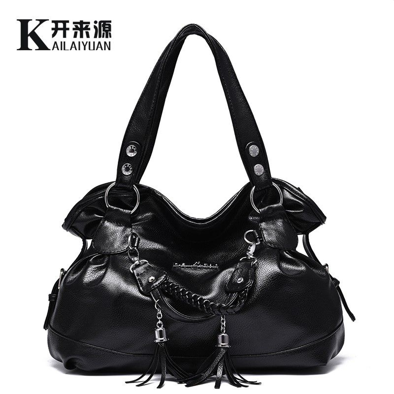 KLY 100% Echtem leder Frauen handtaschen 2018 Neue Damen klassische casual quaste weichen weiblichen handtasche Crossbody frachtbrief