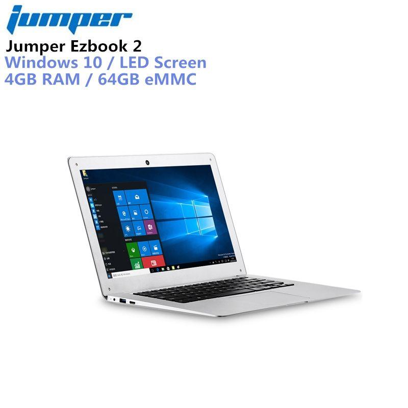 Jumper Ezbook 2 14,0 ''LED FHD 10000 mah Ultrabook Notebook Windows 10 Intel Kirsche Trail X5 Z8350 Quad Core 4 gb + 64 gb Laptop HDMI