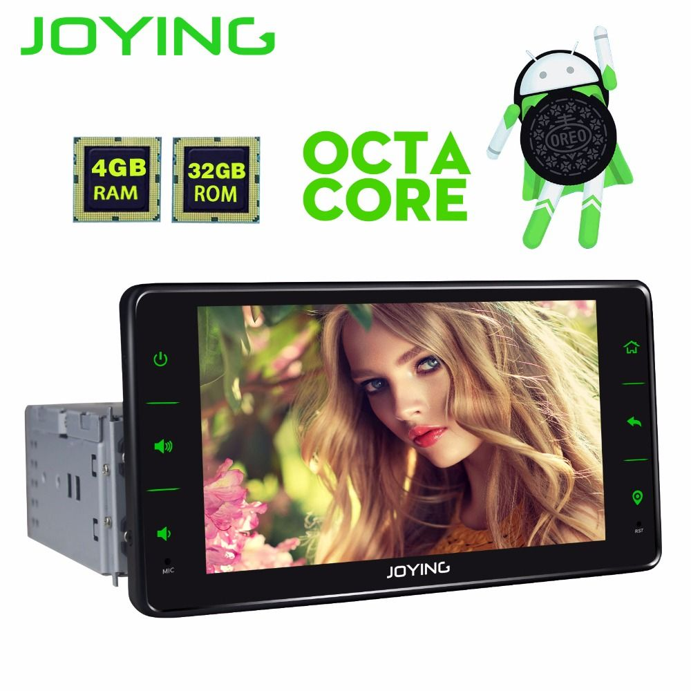 JOYING PX5 4GB RAM OCTA CORE 1 DIN 6.2'' touch screen Android 8.0 car radio head unit stereo gps tape recorder support camera