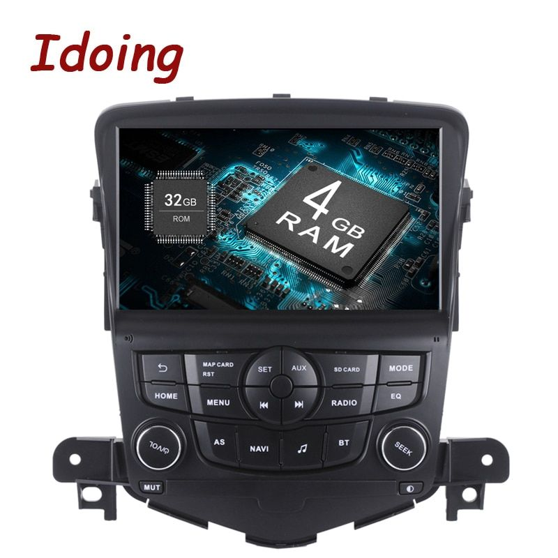 Idoing 1Din 8inch 4G RAM 32G ROM Steering Wheel Android8.0/7.1 Car Multimedia Player Fit Chevrolet Cruze Octa Core Fast Boot 3G