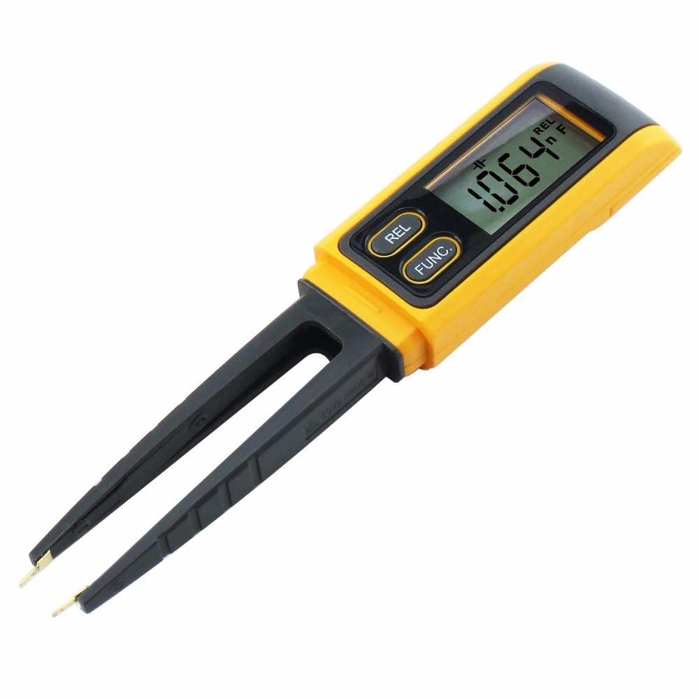 Handheld Tweezers Digital Resistance Capacitance Diode Test Multimeter Meter R / C SMD 3999max reading + Relative Measurement
