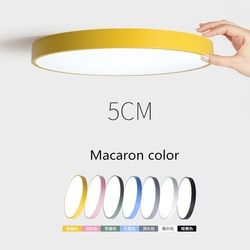 Creative Ultra-thin 5cm LED Ceiling Light Modern Round Remote Control Ceiling Lamp for Bedroom Kitchen Foyer Restaurant
