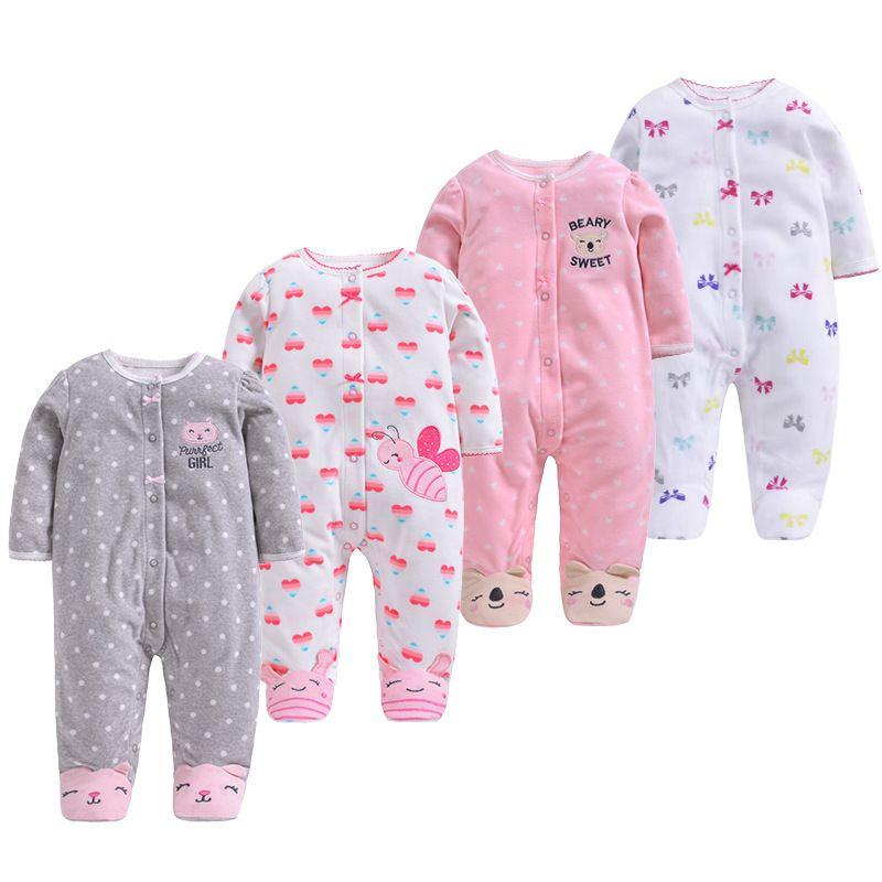 2019 nouveau hiver polaire bébé vêtements bébé filles garçons manches longues body bébé garçon combinaison