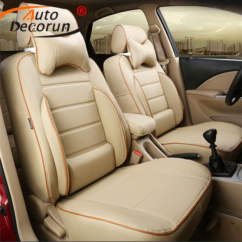 AutoDecorun Custom Cover Seats Car for BMW X1 series accessories seat covers PU leather seat for cars cushion & pillowrest pads