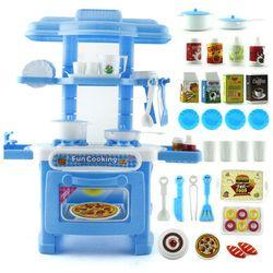 2018 Baru 6 Jenis 1 Pcs Anak-anak Bermain Rumah Mainan Gadis Model Simulasi peralatan makan Set Bayi Mainan Dapur Memasak Dapur Berpura-pura Bermain